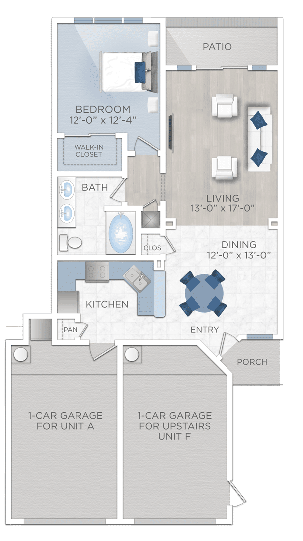 One Bedroom Apartmwnt